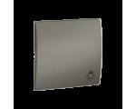 Klawisz pojedynczy do łączników i przycisków platynowy, metalizowany MKS1/27