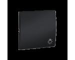 Klawisz pojedynczy do łączników i przycisków grafit mat, metalizowany MKS1/28