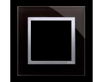 Ramka 1-krotna szklana księżycowa lawa DRN1/74
