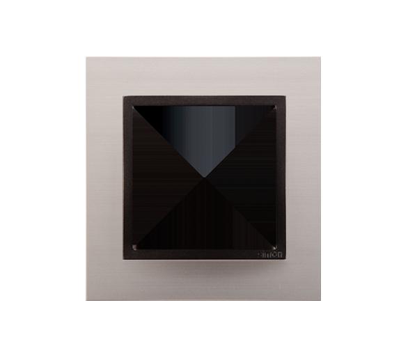 Ramka 1- krotna metalowa satynowy mrok DRN1/80