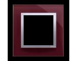 Ramka 1-krotna szklana kusząca śliwka DRN1/89