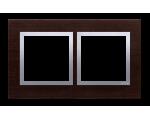 Ramka 2- krotna drewniana srebrne wenge DRN2/84