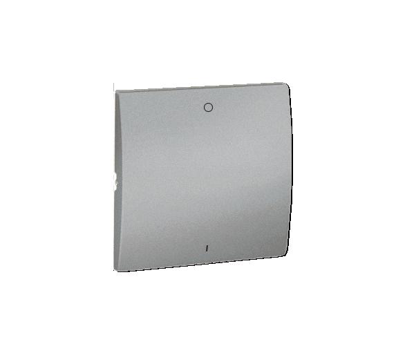 Klawisz pojedynczy do łączników i przycisków aluminiowy, metalizowany MKW2/26