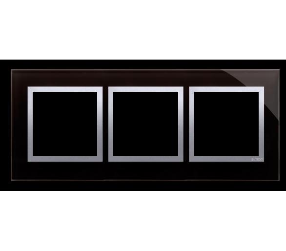 Ramka 3-krotna szklana księżycowa lawa DRN3/74