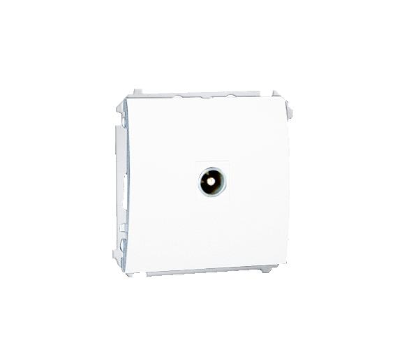 Gniazdo antenowe R-TV końcowe separowane tłum.:1dB biały MAK3.01/11