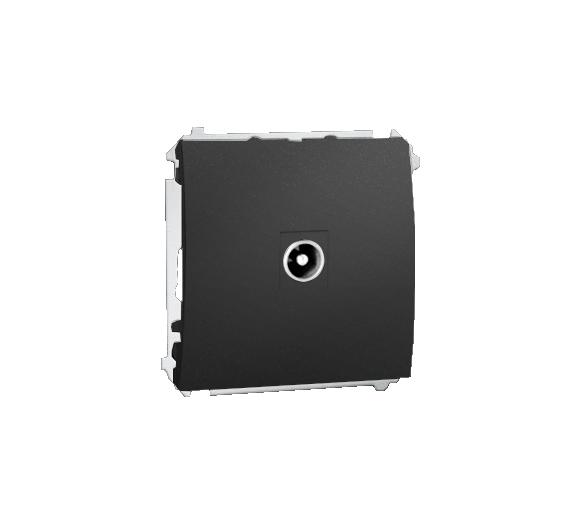 Gniazdo antenowe R-TV końcowe separowane tłum.:1dB grafit mat, metalizowany MAK3.01/28
