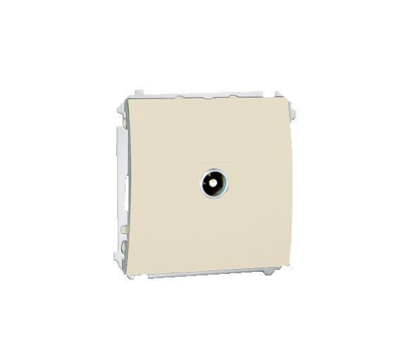 Gniazdo antenowe R-TV przelotowe beżowy MAP1.01/12