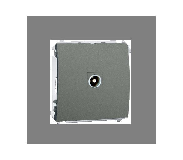Gniazdo antenowe R-TV przelotowe grafitowy, metalizowany MAP1.01/25