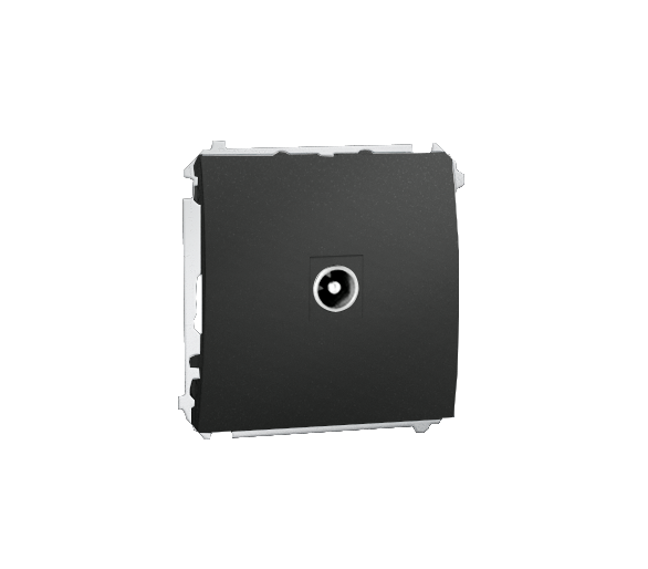 Gniazdo antenowe R-TV przelotowe grafit mat, metalizowany MAP1.01/28