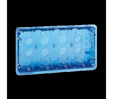 Puszka podtynkowa SIMON 500 4×S500 8×K45 niebieski transparentny 51020104-039