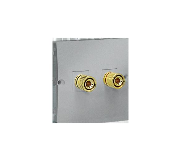 Gniazdo głośnikowe pojedyncze aluminiowy, metalizowany MGL2.02/26