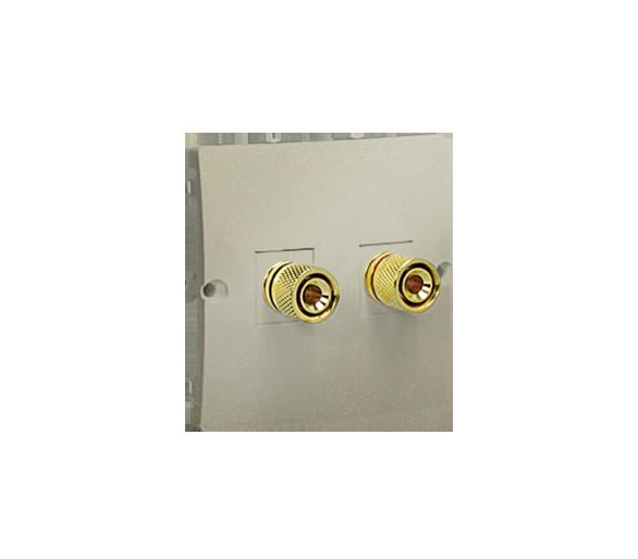 Gniazdo głośnikowe pojedyncze platynowy, metalizowany MGL2.02/27