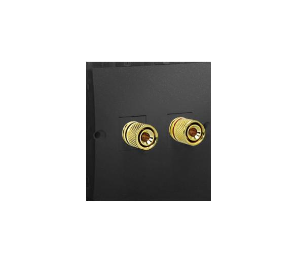 Gniazdo głośnikowe pojedyncze grafit mat, metalizowany MGL2.02/28