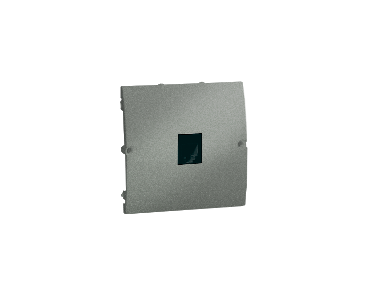 Gniazdo telefoniczne pojedyncze RJ11 grafitowy, metalizowany
