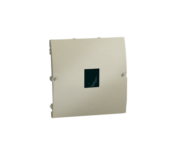 Gniazdo telefoniczne pojedyncze RJ11 platynowy, metalizowany MTU.01/27