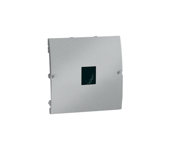 Gniazdo telefoniczne pojedyncze RJ11 aluminiowy, metalizowany