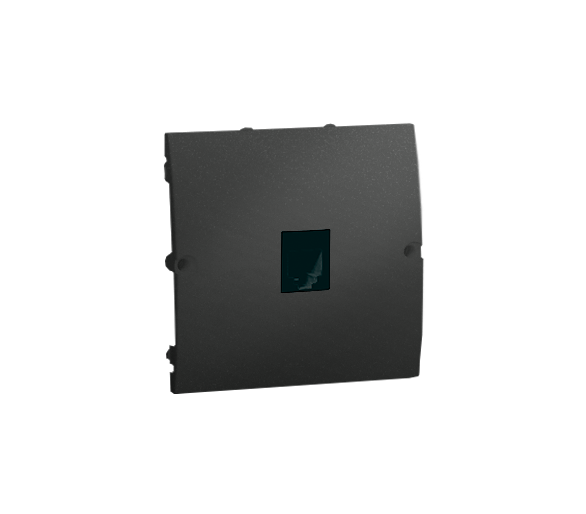 Gniazdo telefoniczne pojedyncze RJ11 grafit mat, metalizowany