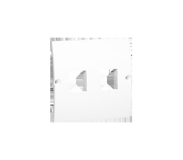 Pokrywa gniazd teleinformatycznych na Keystone płaska podwójna biały