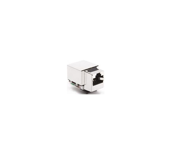 Wkład gniazda komputerowego RJ45 kat.5e, ekranowany (FTP) stal nierdzewna CJ545FM