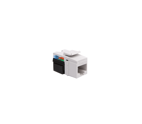 Wkład gniazda komputerowego RJ45 kat.5e, nieekranowany (UTP) biały CJ545U