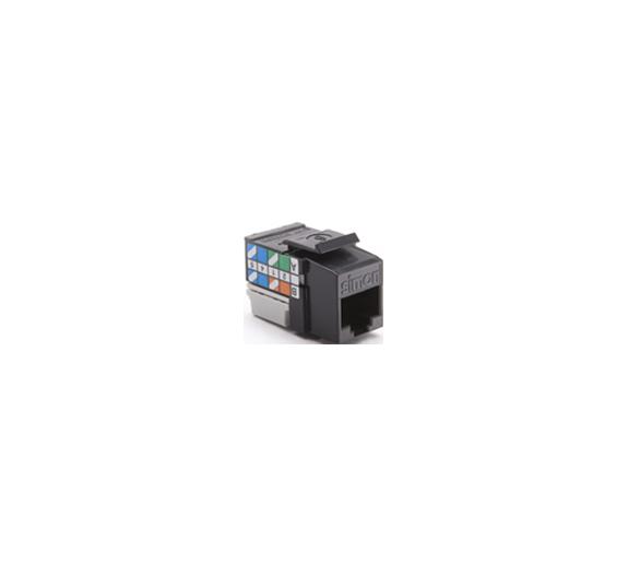 Wkład gniazda komputerowego RJ45 kat.6, nieekranowany (UTP) czarny CJ645U