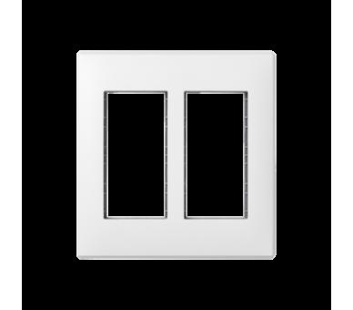 Ramka obudowy SIMON 500 2×S500 4×K45 czysta biel 51010102-030
