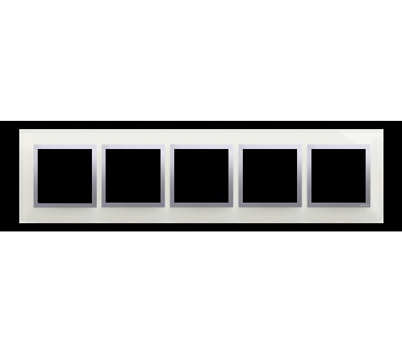 Ramka 5- krotna szklana srebrna mgła DRN5/71