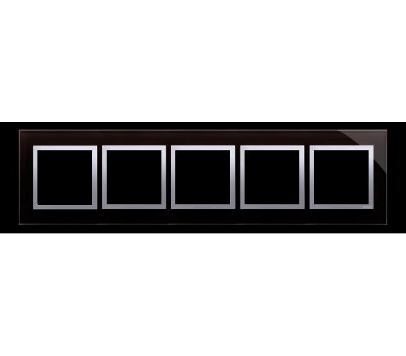Ramka 5- krotna szklana księżycowa lawa DRN5/74