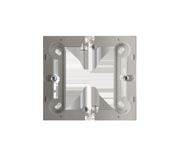 Puszka natynkowa pojedyncza składana satynowy, metalizowany PSCS/29