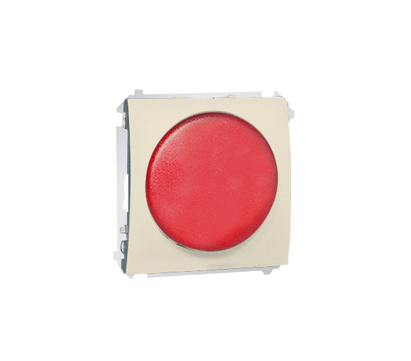 Sygnalizator świetlny LED - światło czerwone beżowy MSS/2.01/12