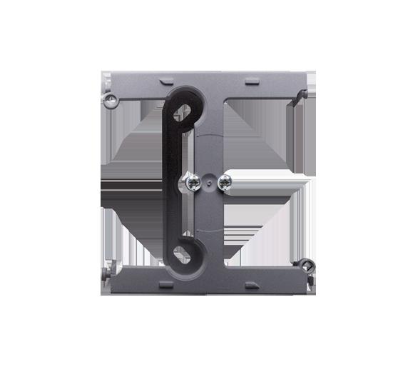 Puszka natynkowa – element rozszerzający puszkę pojedynczą składaną do ramek wielokrotnych srebrny mat, metalizowany