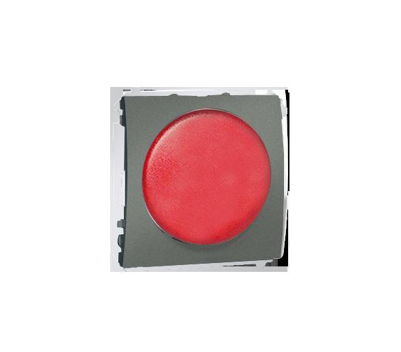 Sygnalizator świetlny LED - światło czerwone grafitowy, metalizowany MSS/2.01/25