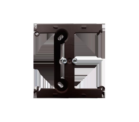 Puszka natynkowa – element rozszerzający puszkę pojedynczą składaną do ramek wielokrotnych czekoladowy mat, metalizowany