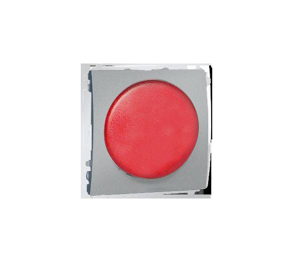 Sygnalizator świetlny LED - światło czerwone aluminiowy, metalizowany MSS/2.01/26