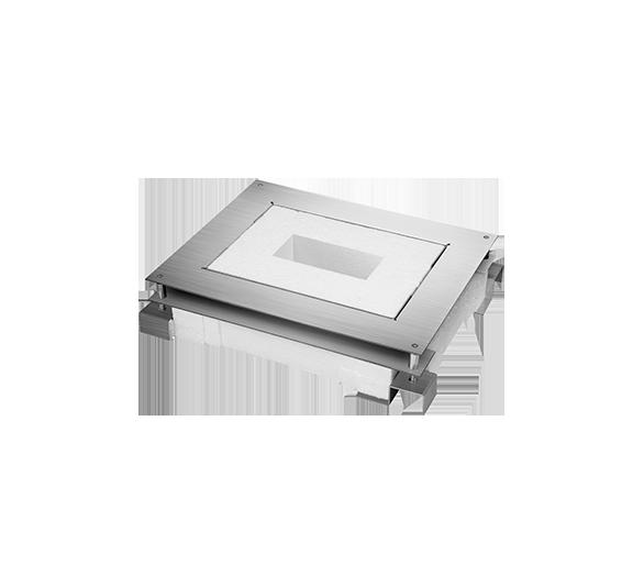 Kaseta do wylewki z metalu FB prostokątna GFB290