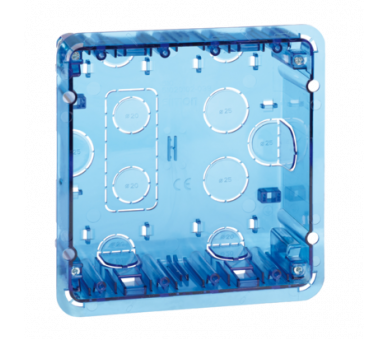 Puszka podtynkowa SIMON 500 2×S500 4×K45 niebieski transparentny 51020102-039