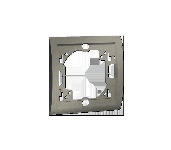 Ramka 1- krotna platynowy, metalizowany MR1/27