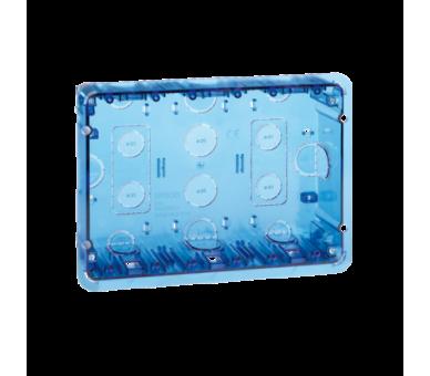 Puszka podtynkowa SIMON 500 3×S500 6×K45 niebieski transparentny 51020103-039