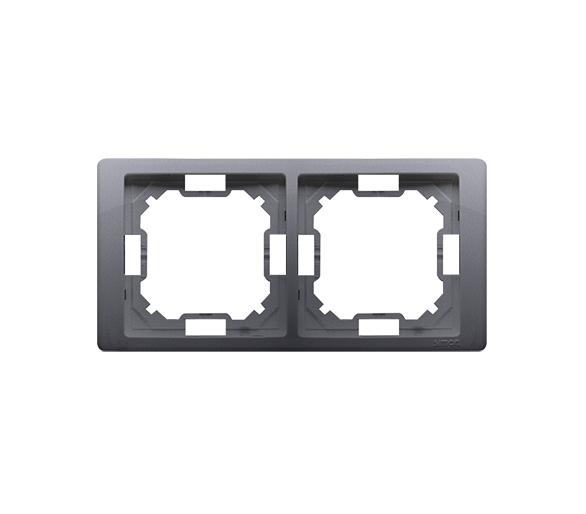 Ramka 2- krotna srebrny mat, metalizowany