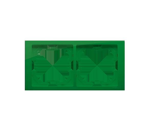 Ramka 2- krotna miętowy, metalizowany BMRC2/032