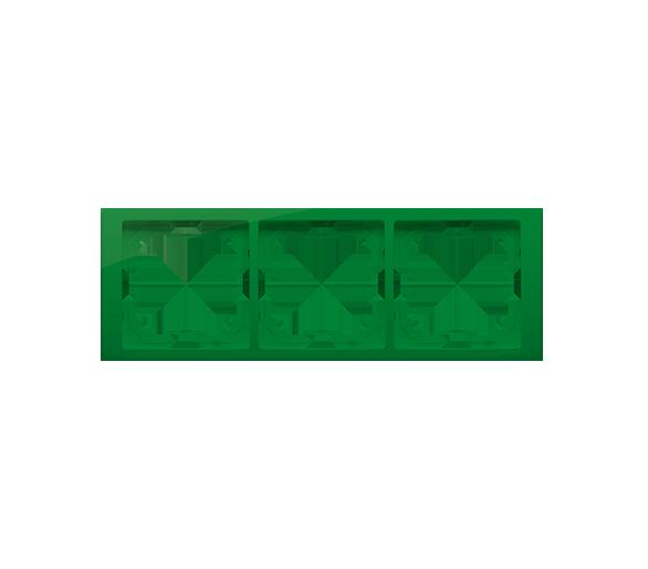 Ramka 3- krotna miętowy, metalizowany BMRC3/032