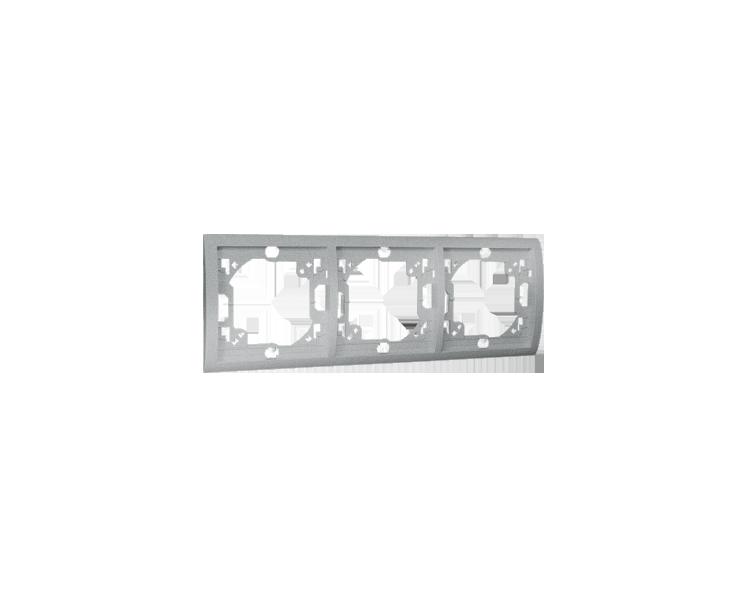 Ramka 3- krotna aluminiowy, metalizowany MR3/26