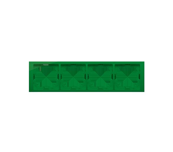 Ramka 4- krotna miętowy, metalizowany BMRC4/032