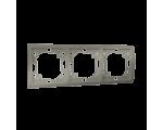 Ramka 3- krotna platynowy, metalizowany MR3/27