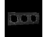 Ramka 3- krotna grafit mat, metalizowany MR3/28