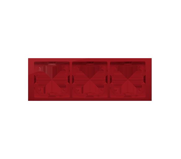 Ramka 3- krotna rubinowy, metalizowany BMRC3/033