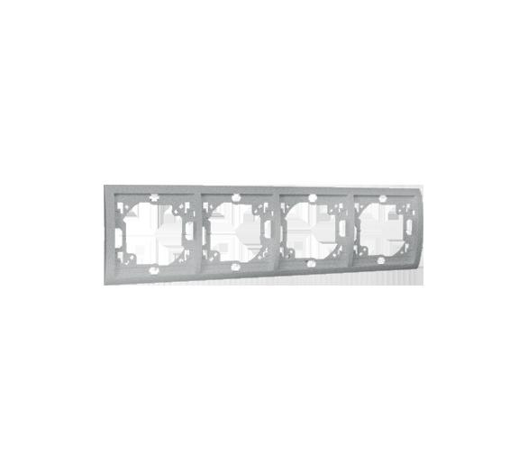 Ramka 4- krotna aluminiowy, metalizowany MR4/26