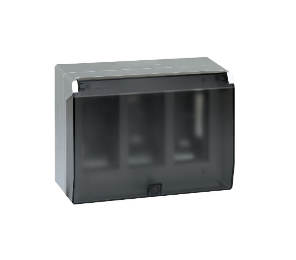 Obudowa natynkowa z pokrywą SIMON 500 3×S500 6×K45 aluminium 51040003-033