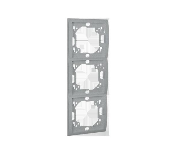 Ramka 3- krotna aluminiowy, metalizowany MR3P/26