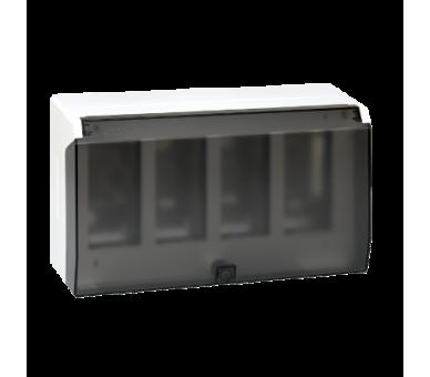 Obudowa natynkowa z pokrywą SIMON 500 4×S500 8×K45 czysta biel 51040004-030